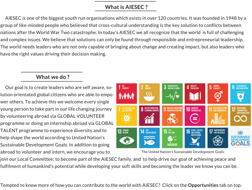 What is AIESEC - (4)